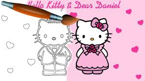 hello kitty coloring book pages valentine u0027s day video for kids