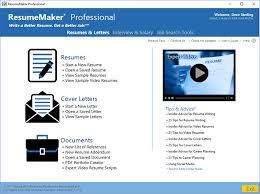 Create Video Resume Online Write A Better Resume Resumemaker Individual Software