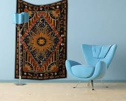 College Wall Decor Burning Sun Tapestry Cool College Wall Tapestry Hippie Wall Decor