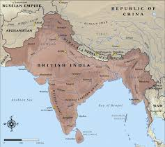 Blank Map Britain by Map Of British India In 1914 Nzhistory New Zealand History Online