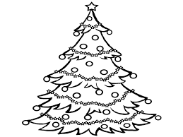 black and white christmas tree clipart clipart collection