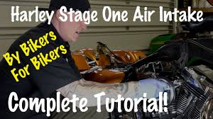 install stage one air intake kit on harley davidson motorcycle