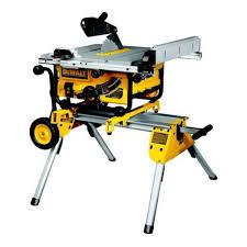 Dewalt Wet Tile Saw Manual by Dewalt Dw745rs Lx 410mm Portable Table Saw U0026 De7400 Rolling Stand 110v