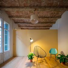 ceiling same color as walls maximizing chamfered corners home renovation in barcelona u0027s