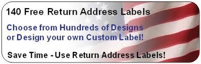 free return address labels hundreds of designs upload your own