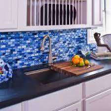 blue glass tile kitchen backsplash photos hgtv