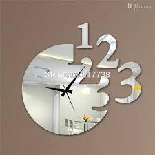 Tall Wall Mirrors 12 U0027 U0027h Number Style Mirror Wall Clock Modern Design Decorative