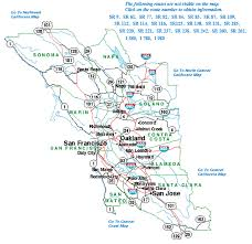 san francisco map east bay highway information area maps caltrans district four