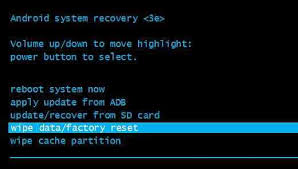 how to reset android things about android factory reset