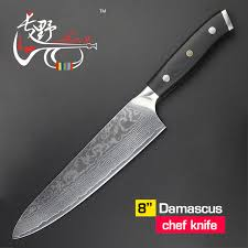 japanese steel kitchen knives haoye 8 inch damascus chef knife japanese vg10 steel kitchen