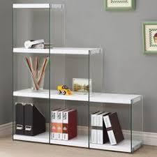 Glass Bookcases Coaster Bookcases X Motif Chrome Finish Bookshelf With Floating
