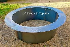 Fire Pit Liner by Stainless Steel Fire Pit Ring With Rolled Top Flange Fire Pit