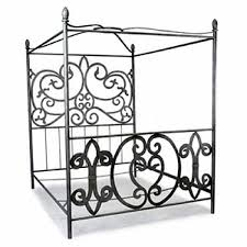 Wrought Iron Canopy Bed Corsican Queen King Wrought Iron Canopy Bed Free Shipping Today