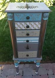 Whitewash Jewelry Armoire Hand Painted And Distressed Jewelry Armoire In Robin Egg Blue 0