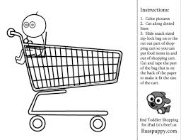 Shopping Cart Coloring Page russpuppy toddler shopping coloring page