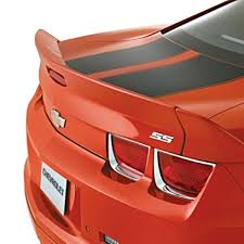 2012 orange camaro 2010 camaro blade dovetail spoiler inferno orange