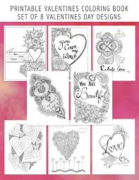 printable valentines day coloring book 8 digital love amor