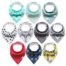 amazon com 12 pack baby bandana drool bibs for drooling and