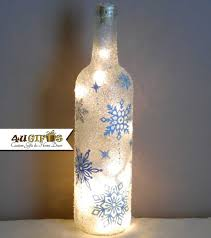 unique wine bottles for sale lighted wine bottle snowflakes christmas decoration christmas