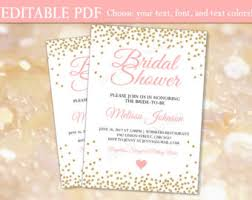 bridal invitation templates bridal shower invitation etsy