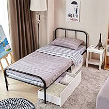 Beds Frames And Headboards Amazon Com Metal Bed Frame Twin Size Greenforest Two Headboards