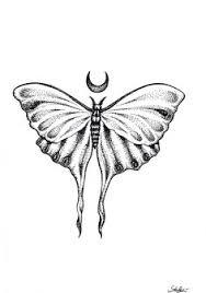 moth design mandala henna moon dotwork tattoos
