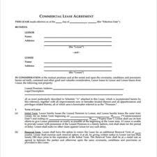 sample commercial lease agreement letter download vlcpeque