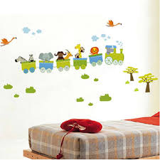 children room decor baby wall stickers diy removable animal children room decor baby wall stickers diy removable animal wallpapers home decals trains trip
