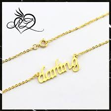 gold necklace with name in cursive dainty handcrafted customized cursive name necklace buy