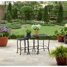 Wrought Iron Patio Furniture Set by Better Homes And Gardens Seacliff Wrought Iron Nesting Side Tables