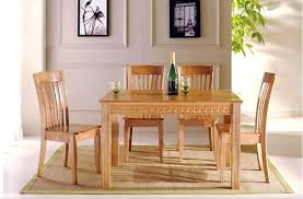 Solid Oak Dining Tables And Chairs Wood Dining Room Appliances Chandelier With Wooden Dining
