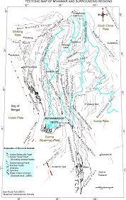 Plate Tectonics Map Tectonic Map Of Myanmar And Surrounding Regions Figure 1 Of 5