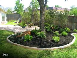 Landscaping Ideas For Large Backyards by Best 25 Mulch Around Trees Ideas On Pinterest Flower Bed Edging