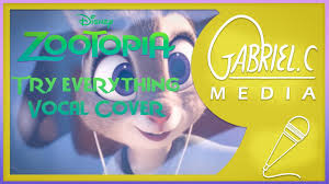 theme song zootopia try everything zootopia theme song vocal cover youtube
