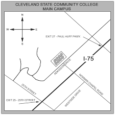 Cleveland State University Campus Map by Campus Maps Cleveland State Community College Acalog Acms