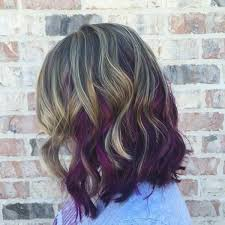 blonde bobbed hair with dark underneath 45 best hairstyles using the fashionable shade of purple