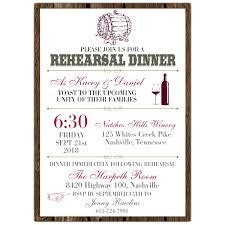 dinner rehearsal invitations wine barrel rehearsal dinner invitations paperstyle rehearsal
