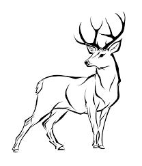 simple deer clipart clipartxtras