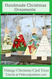 handmade christmas cards how to make christmas ornaments from vintage cards petticoat junktion