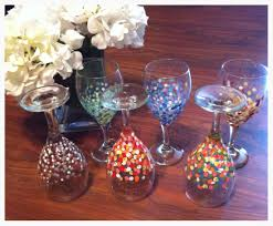 s day painted wine glasses famille de louisiane