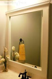 Bathroom Mirror Frame Ideas Mirrors Framing Your Bathroom Mirror With Tile Bathroom Mirror