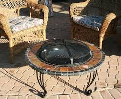 Slate Firepit Slate And Marble Outdoor Pit With Copper Accents Wad820sp
