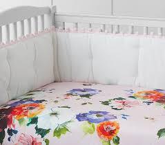 organic hannah floral crib fitted sheet pottery barn kids c u0027s