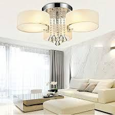 modern light fixtures for living room living room lighting dinggu flush mounted 3 light chrome finish modern chandelier