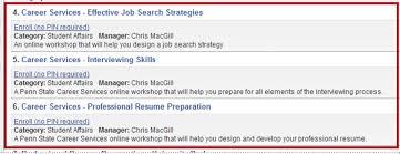 Penn State Resume Detailed Instructions