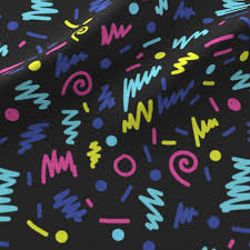 shapes 80s rad design for modern trendy kids fabric