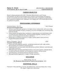 Resume Objective Financial Analyst Sample Finance Resume Entry Level Entry Level Accounting Resume