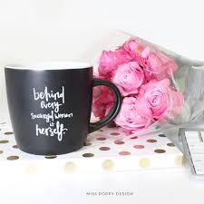 mugs miss poppy design
