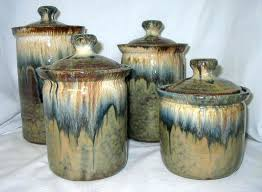 pottery kitchen canister sets ceramic kitchen canister sets snaphaven