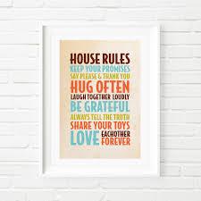 digital print house rules print children u0027s print kids